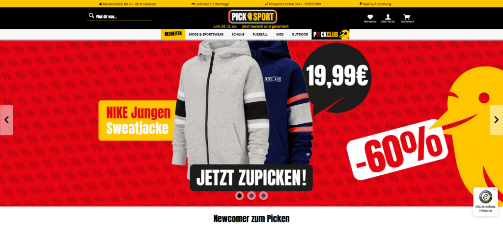 Picksport Website